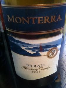 Monterra Syrah Monterey 2001